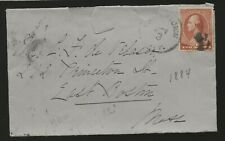 1884 Cover New York to Boston aa