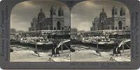 Marsella La Catedral El Envío Francia Foto Estéreo Stereoview Vintage