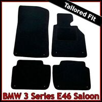 BMW 3-Series E46 Saloon 1998-2006 Tailored Fitted Carpet Car Floor Mats BLACK