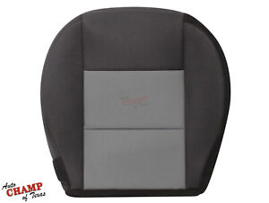 2003-2011 Ford Ranger-Driver Side Bottom Replacement Cloth Seat Cover Black/Gray