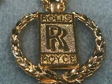 Rolls Royce medallion on chain, 1970s shiny gold plated