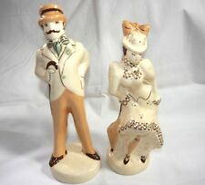 Set of Two Antique 1900-1920 Porcelain Figurines