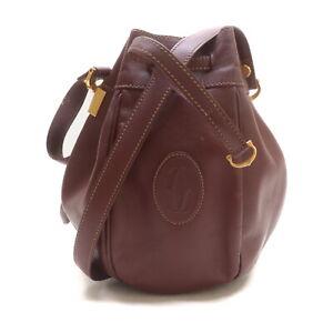 Cartier Shoulder Bag  Bordeaux Leather 2401349