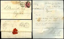 GB QV 1871 Threepence Pl.6 mi di copertura per cognac.. Londra joint stock Banca lettera