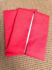 Car Napkin Holder Handmade Hand Sewn Washable Fabric - Qty 2 - Solid Red