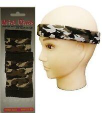 Army Camouflage Headband & Wristband Fancy Dress Accessories Fancy Dress