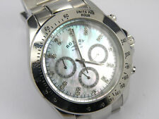 Rotary 0004/07 Mens Mother of Pearl Chronograph Watch - 100m