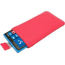 Pink Leather Pull Tab Pouch Case for Nokia Lumia 920 925 & 1020 Windows Cover