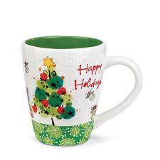 Christmas Tree Ceramic Mug Happy Holidays by Kathy Davis Deck The Halls NEW