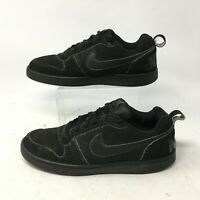 Nike Court Borough Low Casual Sneakers Mens 10 Low Top Leather Black 838937-001