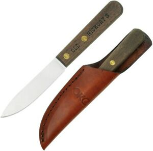 """Old Hickory Bird and Trout Fixed Knife 3.38"""" 1075HC Steel Blade Wood Handle"""