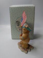 Cherished Teddies Adam 2003 Patriotic American Flag  in Box 112396