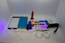 Samsung Galaxy S7 Black Front Glass, Screen Repair Kit, Loca Glue, Uv Torch
