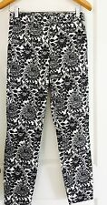 STUDIO W WOMENS PANTS COTTON STRETCH FLORAL PRINT NEW SZ 8