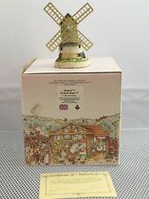 Windmill by David Winter Hand Made and Painted 1985 w/ box and Coa