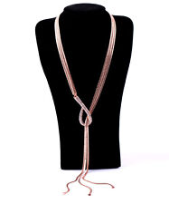 N897 Forever 21 Rose Gold Wedding Accessories 2 Style Tassels  Chain Necklace US