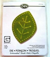 Leaf Sizzix Sizzlits Embosslits Embossing Die by Basic Grey 657236 Cuts & Emboss