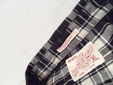 Lucky Brand Men's Flannel Shirt Size XL Soft 100% Cotton Plaid Black Warm Top
