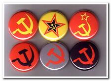 HAMMER & SICKLE buttons badges pins soviet russia marxism communist