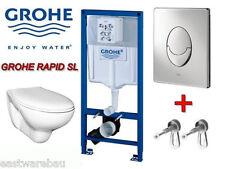 Grohe Vorwandelement Wand WC Komplettset mit Betätigung Skate Air weiss / chrom