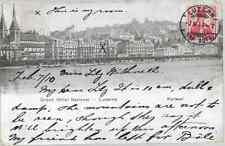 SWITZERLAND 1910 B&W POSTCARD GRAND HOTEL LUCERNE WITH CANCEL TO GB REF 420