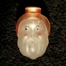 Vintage Old World Santa Glass Christmas Light Cover