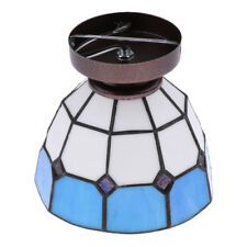 Stained Glass Mediterranean Style Ceiling Light Pendant Lampshade Cafe Bar Decor