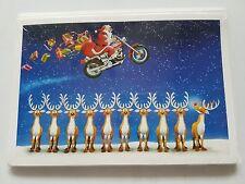 HARLEY DAVIDSON CHRISTMAS CARDS #X136 HARLEY SANTA FLIES OVER REINDEER (100 PK)