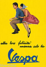 "lambretta vespa scooter couple italy  poster  yellow for glass frame 36"" x 24"""