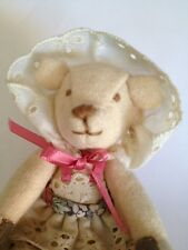 Vintage Miniature Jointed Teddy Bear Artist Made by Hand