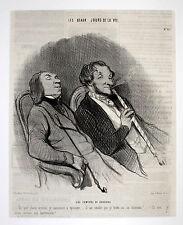 Les Fumeur de Hadchids DAUMIER 1845 Haschisch Raucher hashish smoke  Kiffer 420