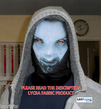 BLUE FEMALE ALIEN DESIGN SCARY HALLOWEEN FACE MASK FANCY DRESS FABRIC LYCRA