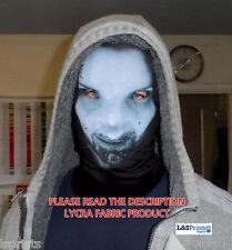 blu da donna Alien design da Halloween maschera vestito operato TESSUTO LYCRA