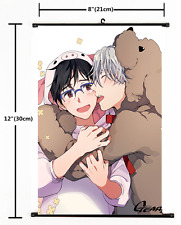 Japanese Anime Yuri On Ice Victor Yuri Poster Wall Scroll cosplay 2378