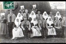 PLOUGASTEL-DAOULAS (29) MARIAGE / GROUPE costume local devant MEULE de FOIN 1907