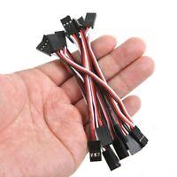 10pzs 10cm Cable alambre plomo de extension de servo Macho a macho E3F7