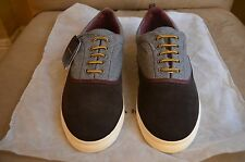 ZARA MAN BASIC COMBINED  GREY & BROWN LEATHER CASUAL SNEAKERS SHOES 10 43 28 9