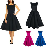 Fashion Women 50s 60s Retro Rockabilly Swing Prom Gown Ball Party Evening Dress