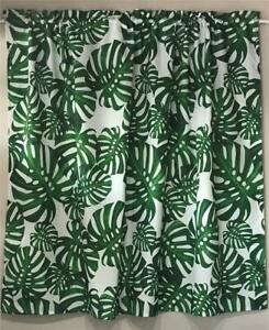 new 1 pc kitchen bathroom window ready to hang curtain easy care tropical green