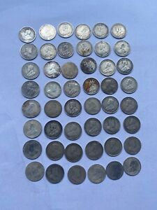 Coins 48 Aust Silver 3 pence 1936 and earlier Dates