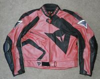 Dainese Leather Motorcycle Jacket EU 56  !! EXCELLENT !!  Coral in color