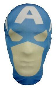 Captain America Style Full Head Mask - Halloween Costume Cosplay Fancy Dress