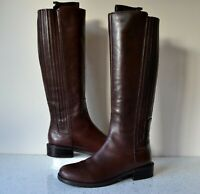 "CLARK`S ""MARQUETTE SILK"" DK.BROWN LEATHER KNEE HIGH RIDING BOOTS UK4.5D RRP £160"