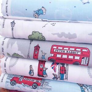 Beatrix Potter Peter Rabbit Digital Cotton Fabric 10 Designs 110cm Wide