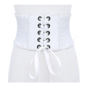 Women Ultra Wide Belt PU Elastic Corset Belt Fashion Wide Waist Belt For Ladies