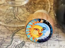 Sun and Moon Wine Stopper, Handmade Day and Night Art Bottle Stopper