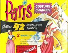 VINTGE 1960S PARIS COSTUME CHANGE PAPER DOLLS ~UNCUT ORG SZ~LASR REPRO NO1 SELLR