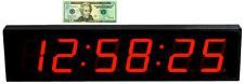 """LARGE 4"""" LED COUNT DOWN/UP/INTERVAL TIMER/STOPWATCH REMOTE CONTROL CLOCK"""