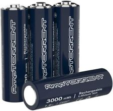4 pack AmpTORRENT Rechargeable AA Batteries  Lithium 3000mWh  1.5V Output UK