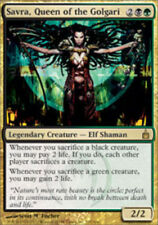 [1x] Savra, Queen of the Golgari [x1] Ravnica: City of Guilds Played, English -B